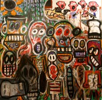 Tribes. Acrylic on Canvas. 2014-Gareth Jones.jpg
