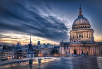 Sunset over St Paul's