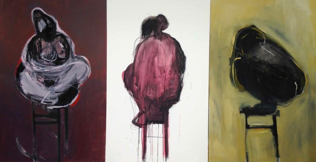 Bird woman 162x300cm acrylic on canvas