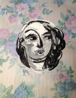 wallpaper face 70x50cm